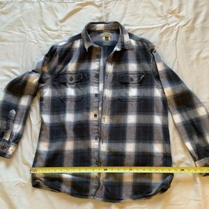 Sonoma blue plaid light flannel shirt